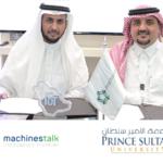 تتعاون جامعة الأمير سلطان مع Machinestalk من أجل تحويل حرم جامعي ذكي، ولرعاية المواهب السعودية